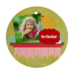 Kids By Kids   Round Ornament (two Sides)   4gkhwixjjm05   Www Artscow Com Back