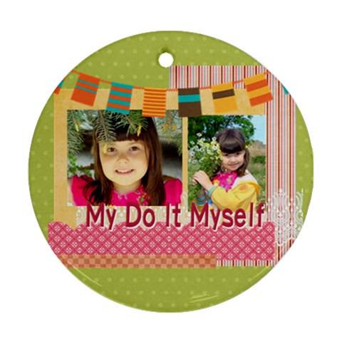 Kids By Kids   Ornament (round)   6z7xuw7sm39b   Www Artscow Com Front