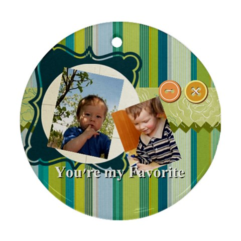 Kids By Kids   Ornament (round)   Zdul91pgt228   Www Artscow Com Front