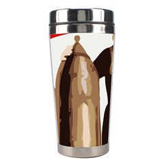 Power To The Masses Stainless Steel Travel Tumbler by youshidesign