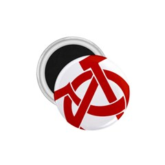 Hammer Sickle Anarchy 1 75  Button Magnet by youshidesign