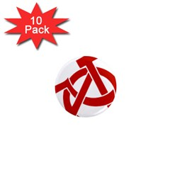 Hammer Sickle Anarchy 1  Mini Button Magnet (10 Pack) by youshidesign