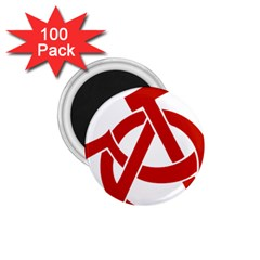 Hammer Sickle Anarchy 1 75  Button Magnet (100 Pack) by youshidesign