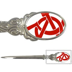 Hammer Sickle Anarchy Letter Opener by youshidesign