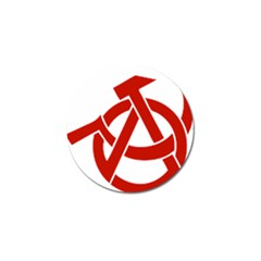 Hammer Sickle Anarchy Golf Ball Marker by youshidesign