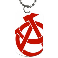 Hammer Sickle Anarchy Dog Tag (two Sided)  by youshidesign