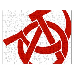 Hammer Sickle Anarchy Jigsaw Puzzle (rectangle) by youshidesign