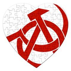 Hammer Sickle Anarchy Jigsaw Puzzle (heart)