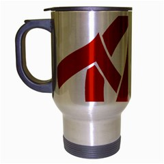 Hammer Sickle Anarchy Travel Mug (silver Gray) by youshidesign