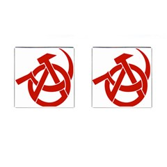 Hammer Sickle Anarchy Cufflinks (square) by youshidesign