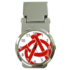 Hammer Sickle Anarchy Money Clip With Watch by youshidesign