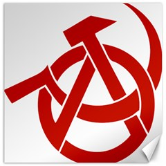 Hammer Sickle Anarchy Canvas 12  X 12  (unframed) by youshidesign