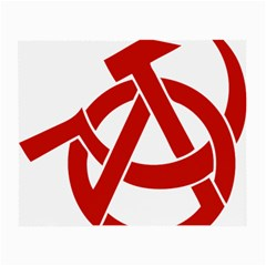 Hammer Sickle Anarchy Glasses Cloth (small, Two Sided) by youshidesign
