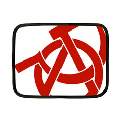 Hammer Sickle Anarchy Netbook Case (small) by youshidesign