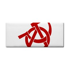 Hammer Sickle Anarchy Hand Towel by youshidesign