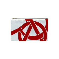 Hammer Sickle Anarchy Cosmetic Bag (small) by youshidesign