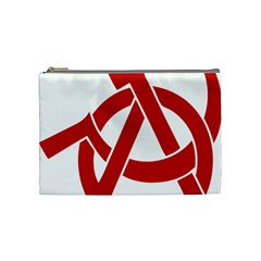 Hammer Sickle Anarchy Cosmetic Bag (medium) by youshidesign