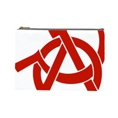Hammer Sickle Anarchy Cosmetic Bag (large) by youshidesign