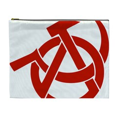 Hammer Sickle Anarchy Cosmetic Bag (xl) by youshidesign