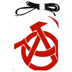 Hammer Sickle Anarchy Shoulder Sling Bag by youshidesign