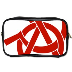 Hammer Sickle Anarchy Travel Toiletry Bag (one Side) by youshidesign