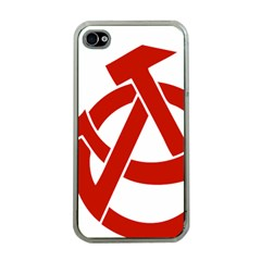 Hammer Sickle Anarchy Apple Iphone 4 Case (clear) by youshidesign