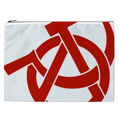 Hammer Sickle Anarchy Cosmetic Bag (xxl) by youshidesign