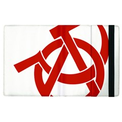 Hammer Sickle Anarchy Apple Ipad 2 Flip Case by youshidesign