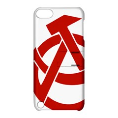 Hammer Sickle Anarchy Apple Ipod Touch 5 Hardshell Case With Stand by youshidesign