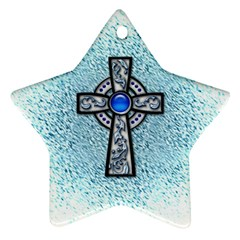 Cross Star Ornament (two Sides) by Contest1680728