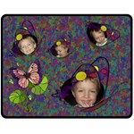 Butterfly Garden medium blanket - Fleece Blanket (Medium)