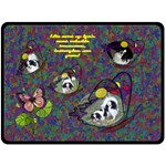 Butterfly Garden large blanket - Fleece Blanket (Large)