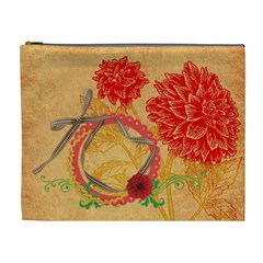 Red Dahlia Cosmetic Bag Xl By Zornitza   Cosmetic Bag (xl)   80wmmmidtd4j   Www Artscow Com Front
