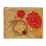 Red Dahlia cosmetic bag XL - Cosmetic Bag (XL)
