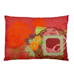 Orange Dahlia pillow case - Pillow Case (Two Sides)
