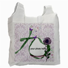 Purple Damask And Green Recycle Bag (2 Side) By Zornitza   Recycle Bag (two Side)   Lc0j9wuv1ay8   Www Artscow Com Front
