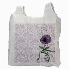 Purple Damask And Green Recycle Bag (2 Side) By Zornitza   Recycle Bag (two Side)   Lc0j9wuv1ay8   Www Artscow Com Back