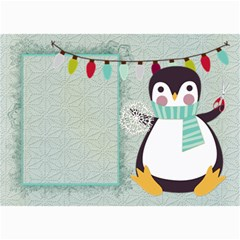 Penguin Christmas Card 7x5 By Zornitza   5  X 7  Photo Cards   Lw8sv9lt26dh   Www Artscow Com 7 x5 Photo Card - 5