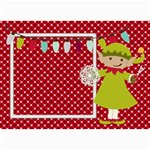 Elf Christmas card 7x5 - 5  x 7  Photo Cards