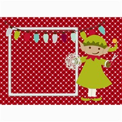 Elf Christmas Card 7x5 By Zornitza   5  X 7  Photo Cards   4bqyh44znay9   Www Artscow Com 7 x5 Photo Card - 7