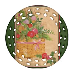 Oil Painting Round Filigree Ornament (two Sides)