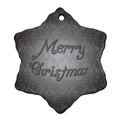 Metal Merry Christmas Snowflake Ornament (two Sides) by Contest1609615