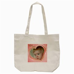 Pink Hearts Tote Bag By Deborah   Tote Bag (cream)   M0s7zd520sey   Www Artscow Com Back
