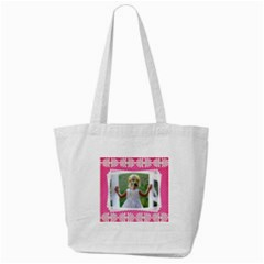 Pretty Pink Tote Bag By Deborah   Tote Bag (cream)   3j8b7qbkvmli   Www Artscow Com Front