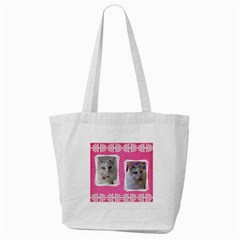 Pretty Pink Tote Bag By Deborah   Tote Bag (cream)   3j8b7qbkvmli   Www Artscow Com Back