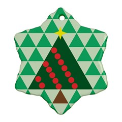 Holiday Triangles Snowflake Ornament (Two Sides) by ContestDesigns