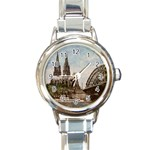 Cologne Round Italian Charm Watch