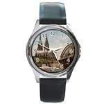 Cologne Round Metal Watch (Silver Rim)
