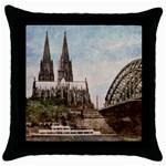 Cologne Black Throw Pillow Case