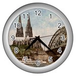 Cologne Wall Clock (Silver)